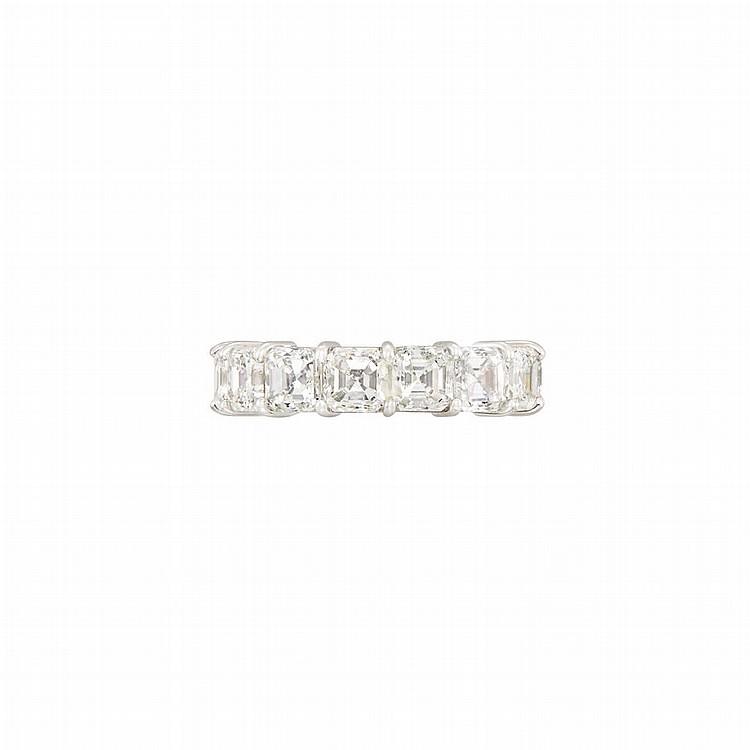 Platinum and Diamond Band Ring, Bulgari