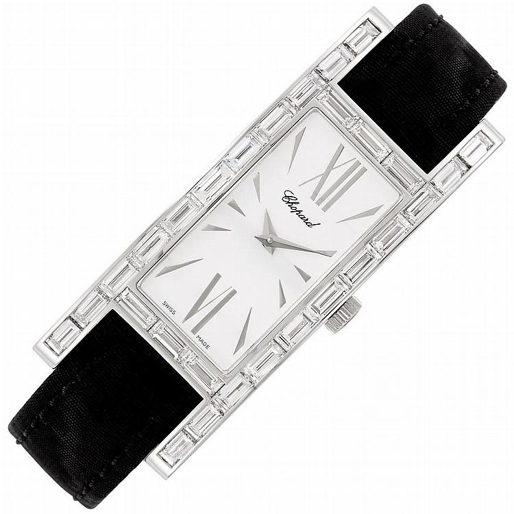 Lady''s White Gold and Diamond Wristwatch, Chopard