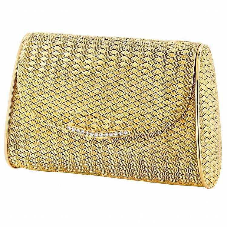 Gold and Diamond Evening Purse
