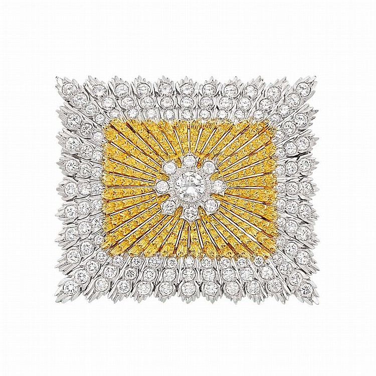 Two-Color Gold and Diamond Brooch, Buccellati