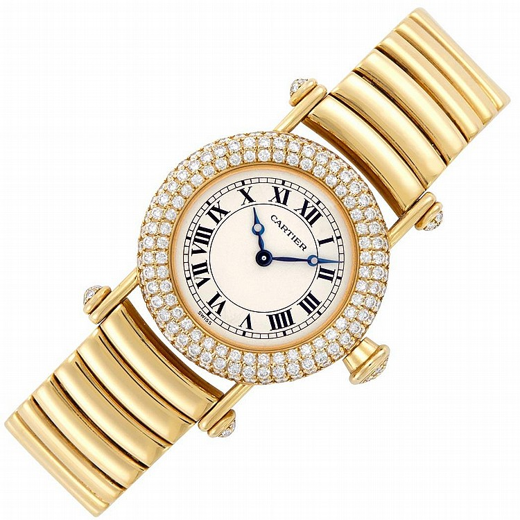 Lady''s Gold and Diamond ''Diablo'' Wristwatch, Cartier, Ref. 1450