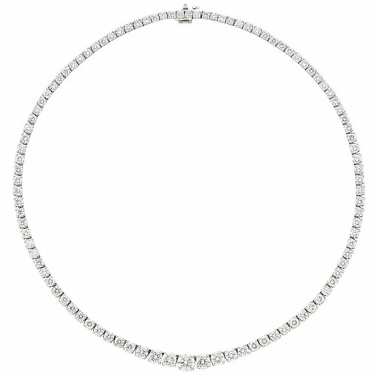 Platinum and Diamond Necklace