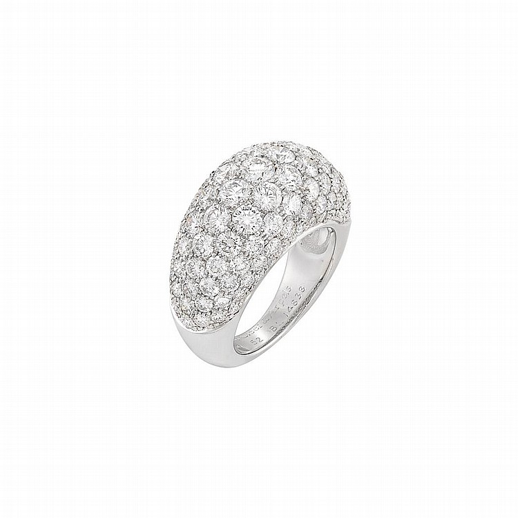 White Gold and Diamond Bombe Ring, Van Cleef & Arpels