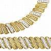 Two-Color Gold and Diamond Necklace and Bracelet