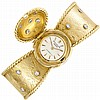 Gold and Diamond Bangle-Watch, Patek Philippe, Ref. 3036