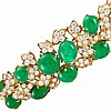 Gold, Cabochon Emerald and Diamond Bracelet, David Webb