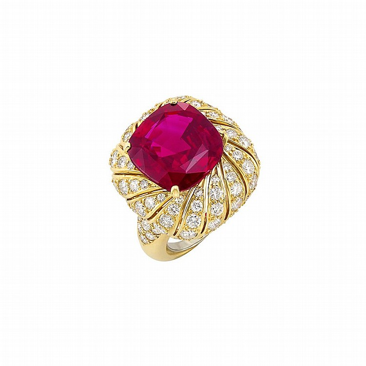 Gold, Ruby and Diamond Ring, Van Cleef & Arpels