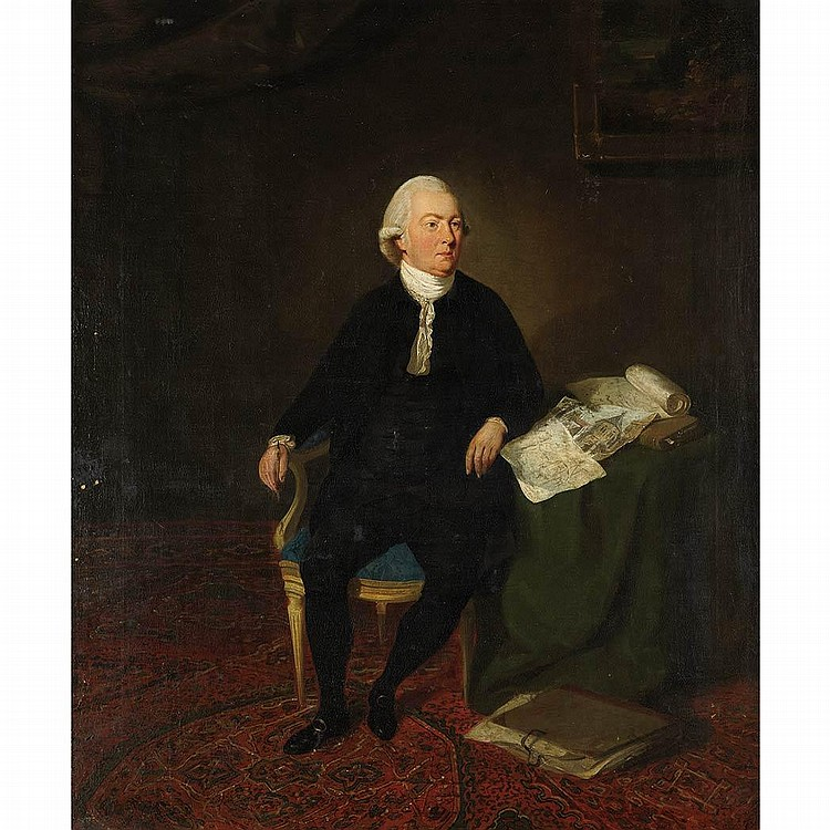 Follower of Johann Zoffany Portrait of a Draftsman