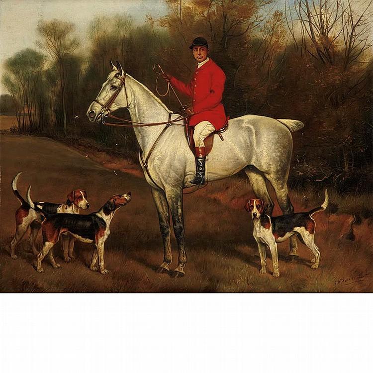 John Arnold Alfred Wheeler British, 1821-1903 Huntsman with Foxhounds