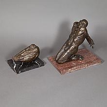 John Silk Deckard American, 1940-1994 (i) Kneeling Man, 1972  and (ii) Folded Man: Two