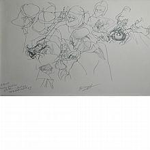 Philip Evergood American, 1901-1973 Removing Fibroid Tumor of the Uterus, 1944