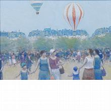 Andre Gisson American, 1921-2003 Hot Air Balloons
