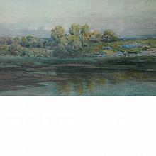Melbourne Havelock Hardwick American, 1857-1916 Landscape with House Along the Water