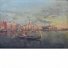 Italian School 19th/20th Century Gondolas in Venice