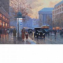 Anton Karssen Dutch, b. 1945 Paris Street Scene
