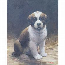 Jean Lefort French, b. 1948 Puppy