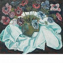Sacha Moldovan Russian/American, 1901-1982 Still Life of Poppies in a Vase   Signed Sacha Moldovan (lr) Oi...
