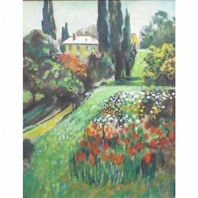 Frank Raubicheck American, 1857-1952 Dutch Garden