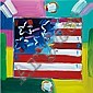 Peter Max American, b. 1937 Flag with Heart Version XXV #1, Peter Max, Click for value