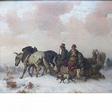 August Richard Zimmermann German, 1820-1872 Homeward Bound, 1862