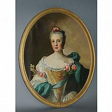 Manner of Jean Marc Nattier Portrait of Princess Sophie of France and Portrait of a Lady: Two