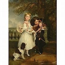 British School 19th Century Playtime