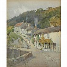 Arthur Tucker British, 1864-1929 (i) Hill in Town (ii) Edge of Town