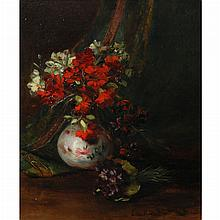 Lillie Honnorat French, 19th/20th Century Still Life with Flowers in a Vase, 1890