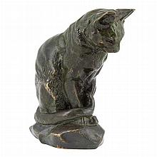Antoine-Louis Barye French, 1796-1875 Chat Assis
