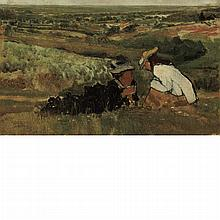 Sir Lawrence Alma-Tadema British, 1836-1912 Summer Hours/Study of Landscape with Figures, 1874 [Swanson 170]