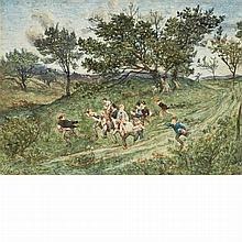 Henri Joseph Harpignies French, 1819-1916 The Apple Thieves
