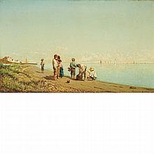 Natale Gavagnin Italian, 1851-1923 On the Beach, 1879