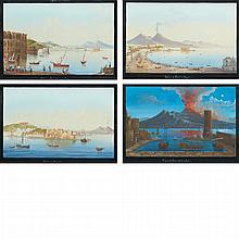 Neapolitan School 20th Century Veduta di Napoli dalla Scoglio di Frisio; Veduta di Napoli de Mergellina; Ve...