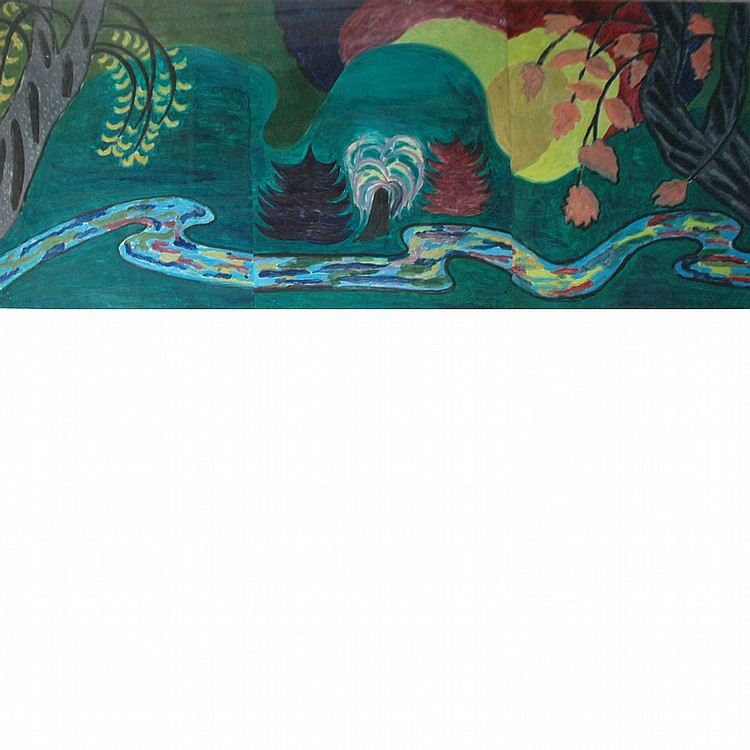 Bonnie Dolin American, 20th Century Landscape, triptych