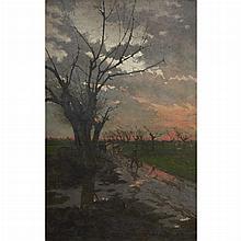 Giorgio Belloni Italian, 1861-1944 Twilight Landscape
