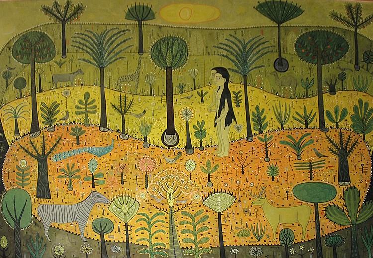 Joan Brotat Spanish, 1920-1990 Adam and Eve in Paradise