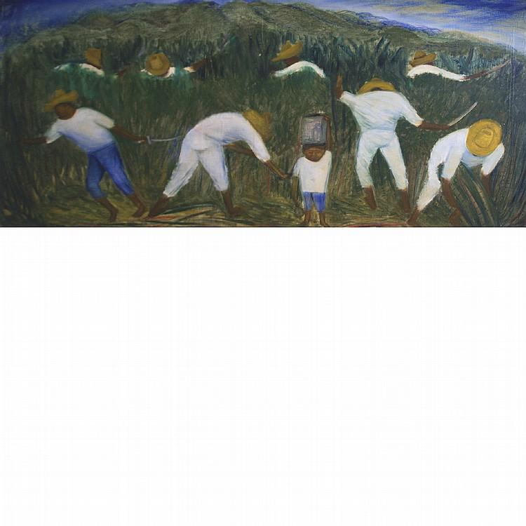Juan De'Prey Puerto Rican, 1904-1962 Laborers in a Sugar Cane Field