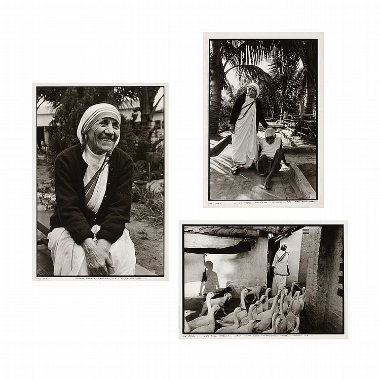 MARK, MARY ELLEN (b. 1941) Group of three images including Mother Teresa, Calcutta, 1980 and two other studies of Mother Teresa, the...