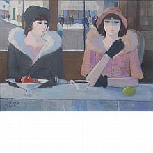 Charles Levier French, 1920-2003 Le Cafe