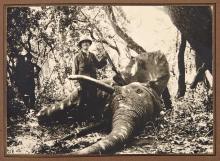 [REMONDON, MARCEL] Mes Chasses en Afrique Equatoriales Mars-Avril 1947-1948. [Title in ink]. Album of 32 gelatin silver prin...