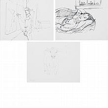 Alex Katz American, b. 1927 (i) Parrot Jungle, (ii) Larry Rivers, (iii) Cows