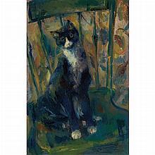 Franz Kline American, 1910-1962 Cat on a Chair