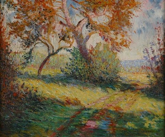 Francis Norton Johnson American, 1878-1931 Fauvist Landscape