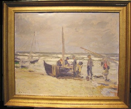 Joseph Oppenheimer German, 1876-1966 FISCHERBOOT AN DER OSTSEE Signed Joseph Oppenheimer (ll) Oil on canvas 25 1/2 x 31 5/8 inches Provenance: Carl Friedrich Selby, Wurzburg (possibly), until 1969