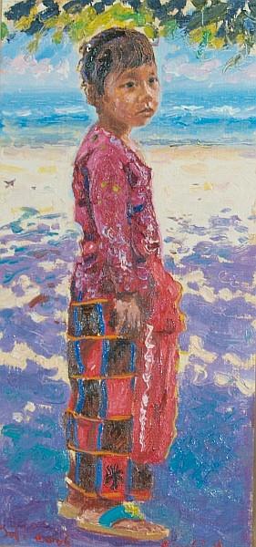 Pierre Guillaume Dutch, b. 1954 Balinese Children, 2006: Two