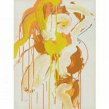 Norman Bluhm American, 1921-1999 Seated Figure (double sided), 1968