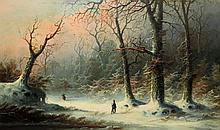 John J. Zang American, b. 1859 A Forest in Winter