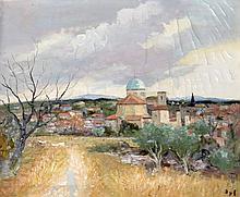 Marcel Dyf French, 1899-1985 Village Provencal de Lambesc, 1975