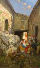 European School 19th/20th Century The Village Gossip