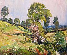Richard Hayley Lever American, 1876-1958 Verdant Landscape